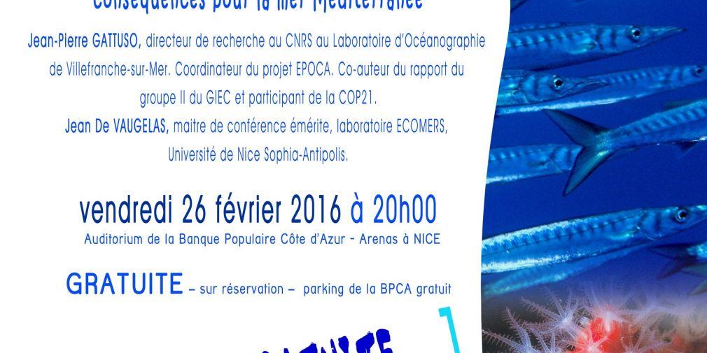 """Conférence """"Océan, climat et COP 21 : conséquences pour la mer Méditerranée"""""""