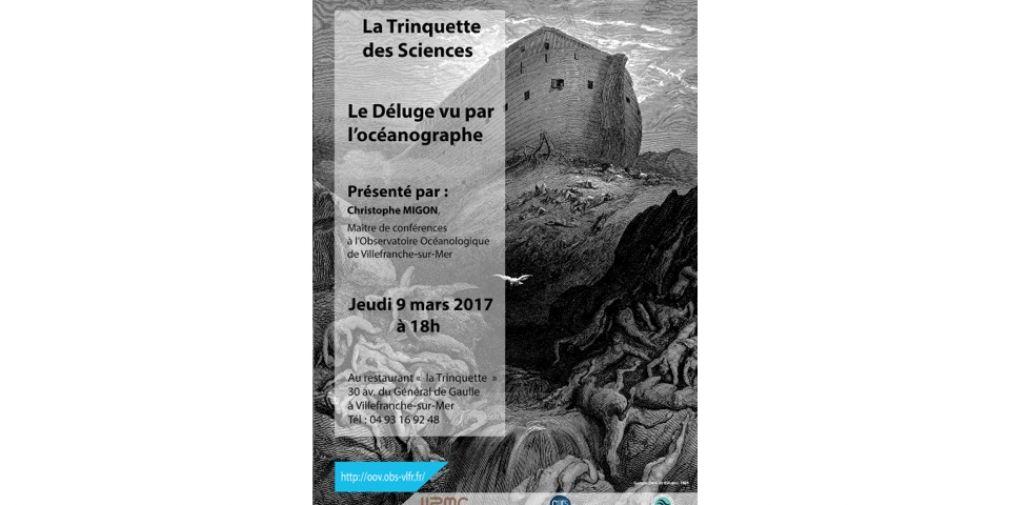 Le Déluge vu par l'océanographe - conférence de Christophe Migon au café des Sciences de La Trinquette