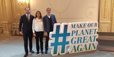 """Nuria Teixido et Rainer Kiko reçus à l'Elysée dans le cadre du programme """"Make Our Planet Great Again"""""""