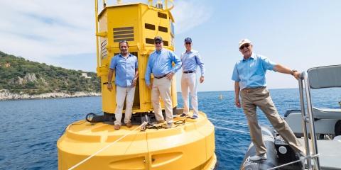 Visite de S.A.S. le Prince Albert II de Monaco à l'OOV et signature de la convention de financement du programme BGC-Argo-pH