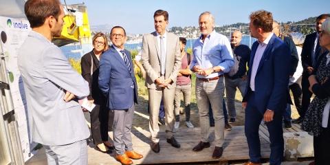 Visite à l'IMEV de Charles Ange Ginésy, Président du Département des Alpes-Maritimes